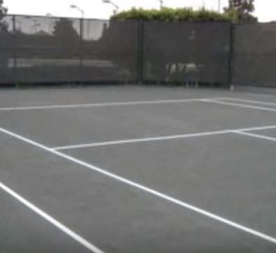 Finished Repairing Tennis Court Jersey Strong Paving Trenton NJ