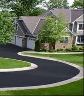 Curved Asphalt Driveway Jersey Strong Paving NJ